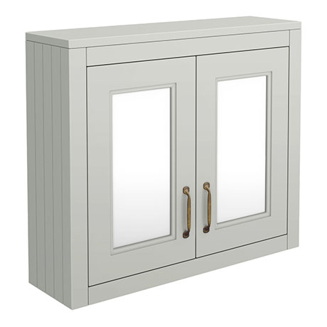Chatsworth 690mm Grey 2-Door Mirror Cabinet