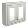 Chatsworth 690mm Grey 2-Door Mirror Cabinet profile small image view 1