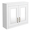 Chatsworth 690mm White 2-Door Mirror Cabinet profile small image view 1