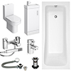 Milan Minimalist Compact Complete Bathroom Package profile small image view 1