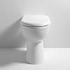Milton Classic Comfort Height BTW Toilet Pan + Soft Close Seat profile small image view 1