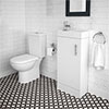 Minimalist Compact Floor Standing Vanity Unit + Knedlington Close Coupled Toilet profile small image view 1