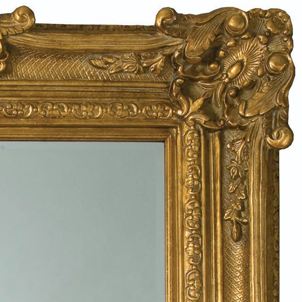 Heritage Chesham Grand Mirror (2240 x 1420mm) - Amber Gold profile large image view 2