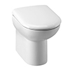 Milton Comfort Height BTW Toilet Pan + Soft Close Seat profile small image view 1