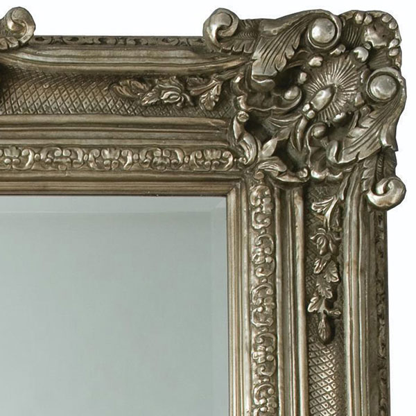 Heritage Chesham Grand Mirror (2240 x 1420mm) - Pewter Silver profile large image view 2