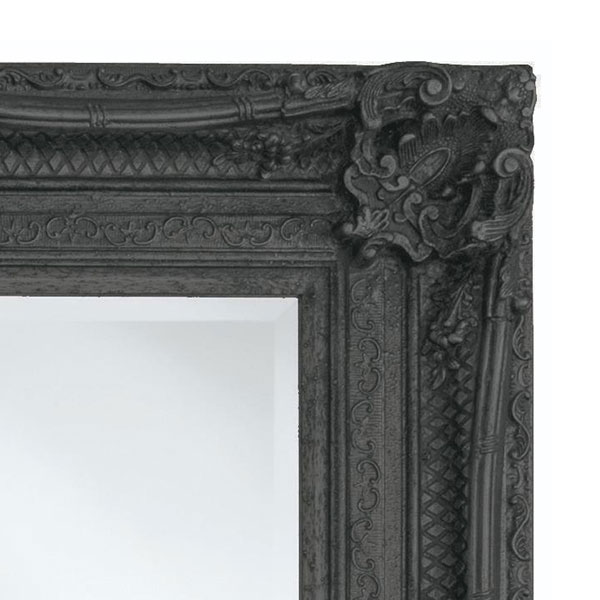Heritage Chesham Mirror (1300 x 990mm) - Stone Black profile large image view 2