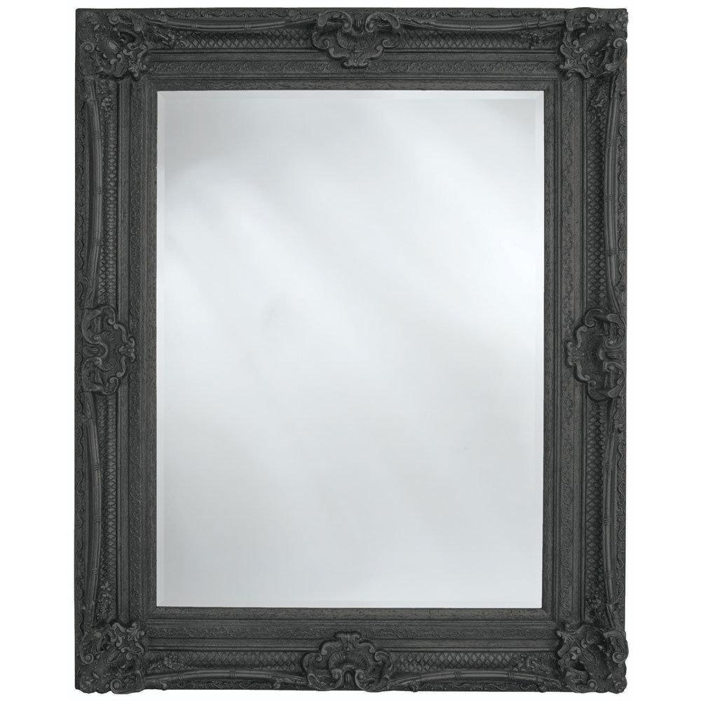 Heritage Chesham Mirror (1300 x 990mm) - Stone Black Large Image