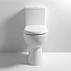 Milton Comfort Height Close Coupled Toilet + Soft Close Seat profile small image view 1