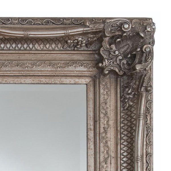 Heritage Chesham Mirror (1300 x 990mm) - Vintage Silver Profile Large Image