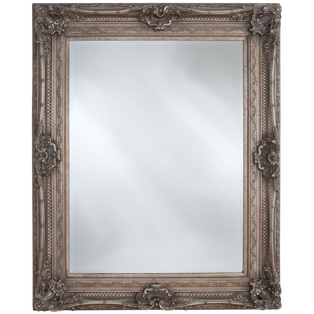 Heritage Chesham Mirror (1300 x 990mm) - Vintage Silver Large Image