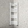 Milan Corner White 1200 x 300 x 300 Heated Towel Rail profile small image view 1