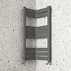 Milan Corner Anthracite 850 x 300 x 300 Heated Towel Rail profile small image view 1
