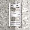 Milan Corner White 850 x 300 x 300 Heated Towel Rail profile small image view 1