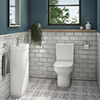 Milan Minimalist Floor Standing Cloakroom Suite profile small image view 1