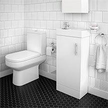 Minimalist Floor Standing Cloakroom Suite Medium Image