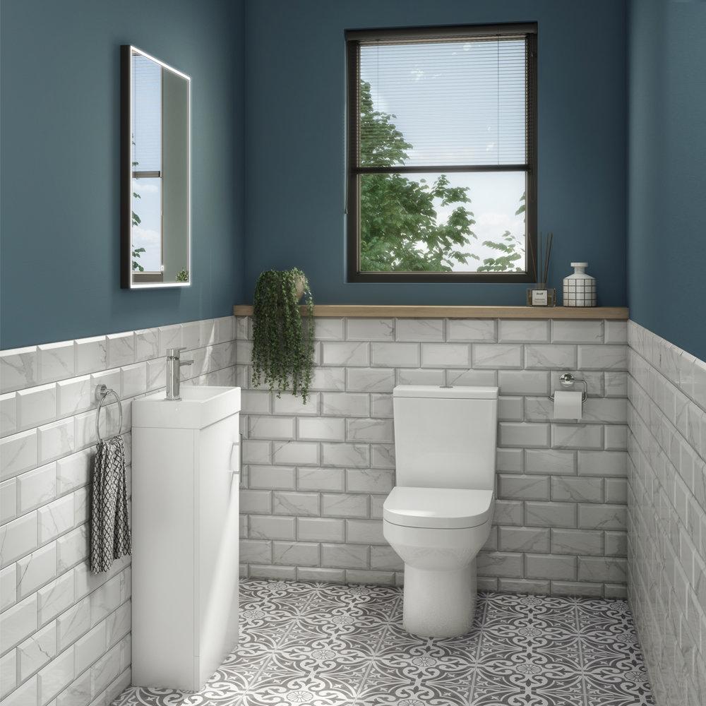 Milan Minimalist Floor Standing Cloakroom Suite