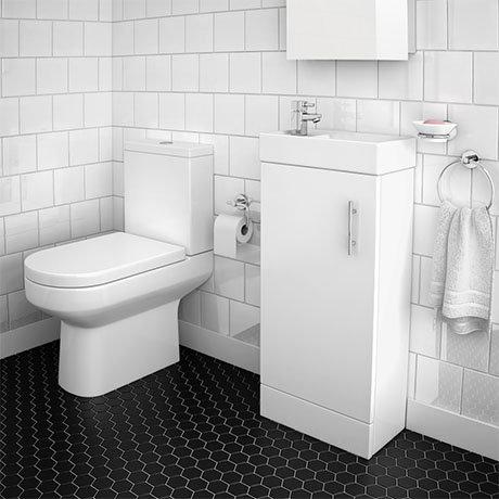 Minimalist Floor Standing Cloakroom Suite