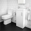 Minimalist Floor Standing Cloakroom Suite profile small image view 1