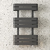 Milan Curved Anthracite 850 x 500 Designer Flat Panel Heated Towel Rail profile small image view 1