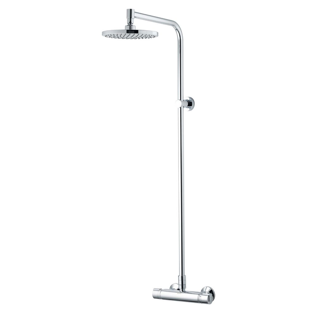 Aqualisa - Midas Plus Mono Exposed Thermostatic Bar Valve with Fixed Head - MD000PLMN Large Image