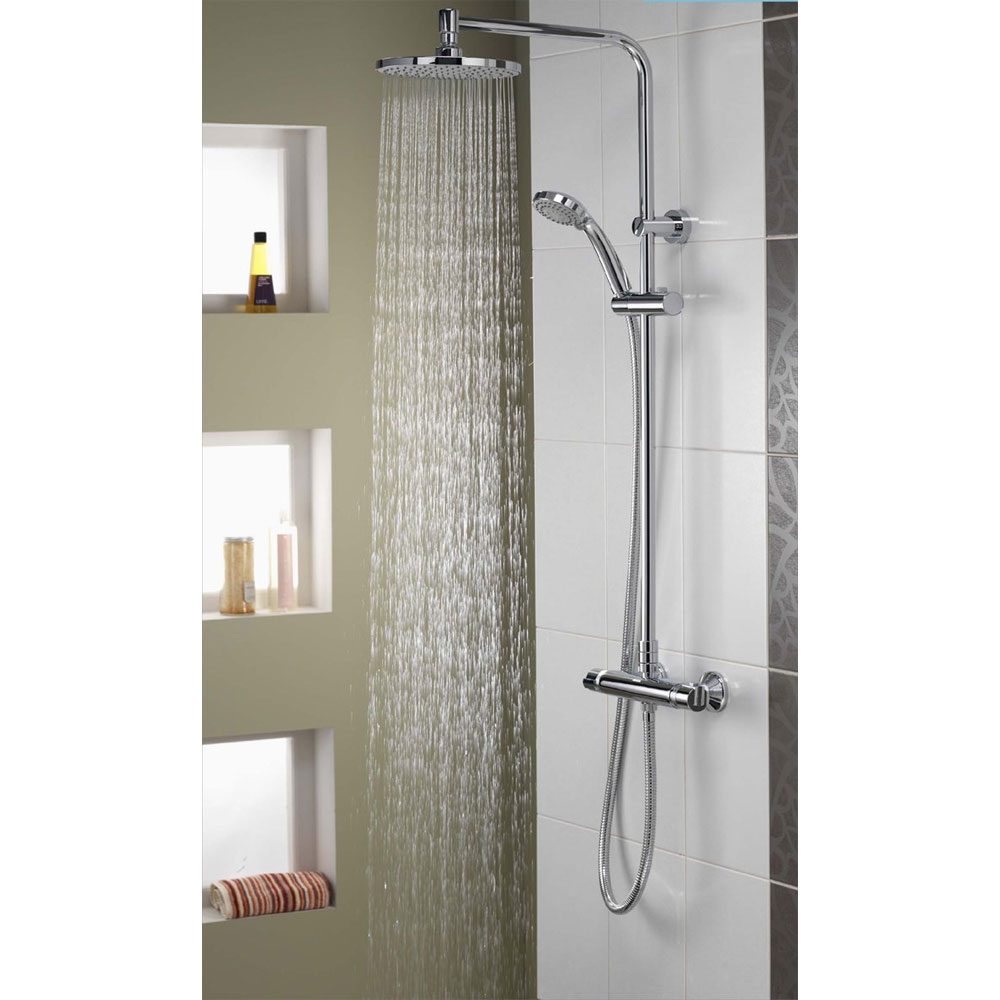 Aqualisa - Midas Plus Exposed Thermostatic Bar Valve with Fixed and Adjustable Heads - MD000PLUS In Bathroom Large Image
