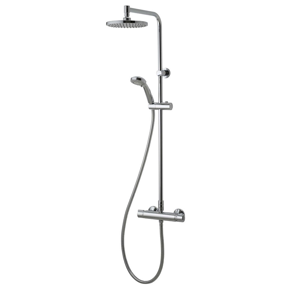Aqualisa - Midas Plus Exposed Thermostatic Bar Valve with Fixed and Adjustable Heads - MD000PLUS Large Image