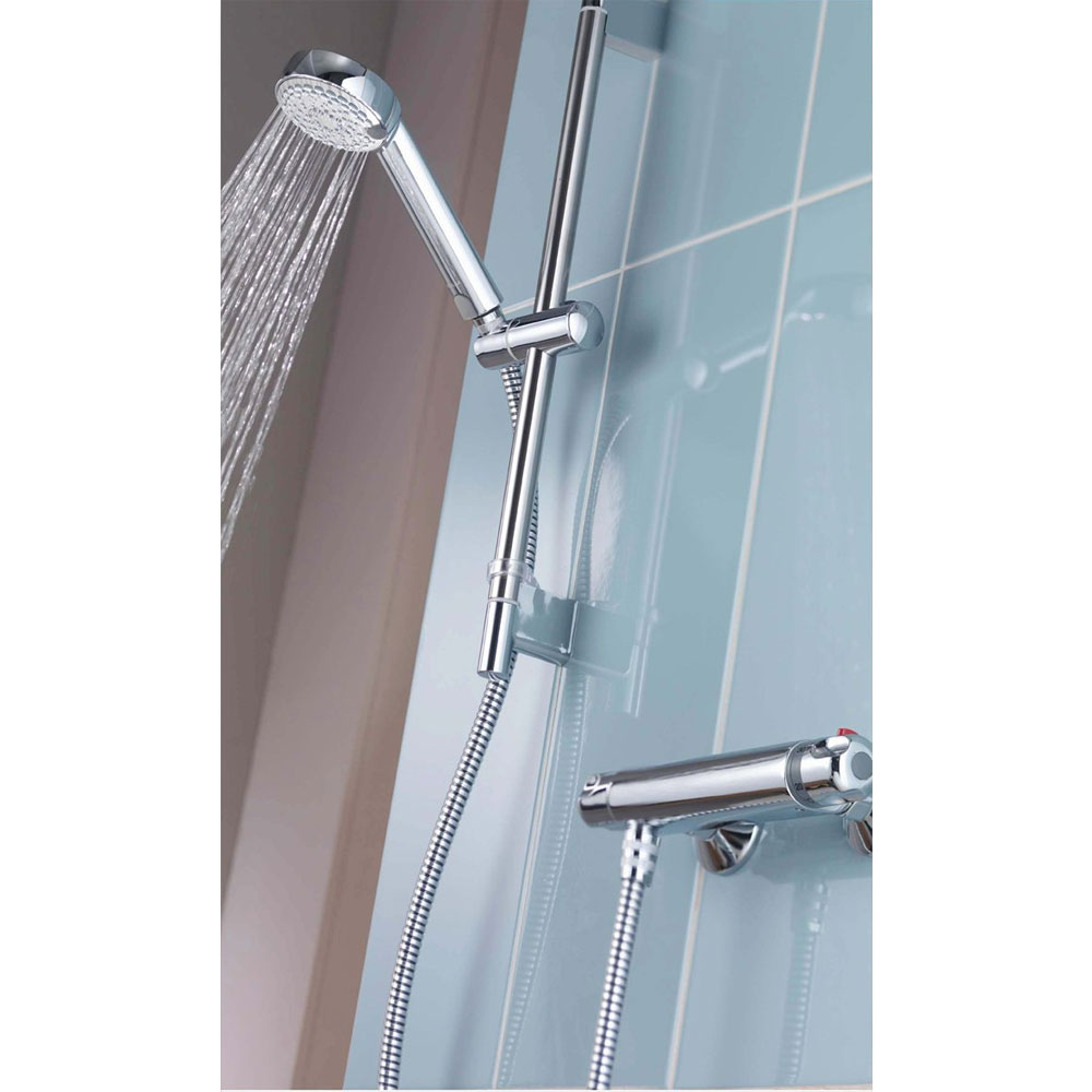 Aqualisa - Midas 100 Exposed Thermostatic Bar Valve with Slide Rail Kit & Easy Fit Bracket - MD100EBAR profile large image view 4