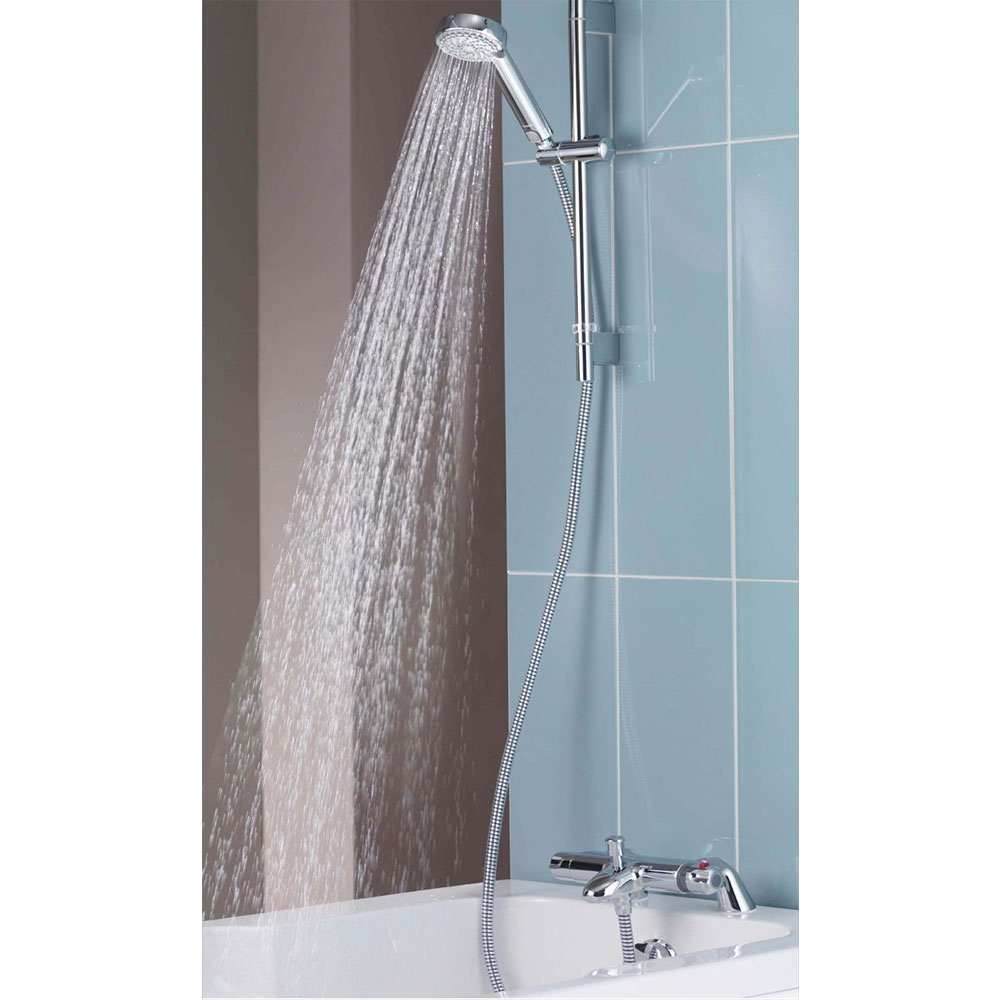 Aqualisa - Midas 100 Thermostatic Bath Shower Mixer with Slide Rail Kit - MD100BSM Feature Large Image