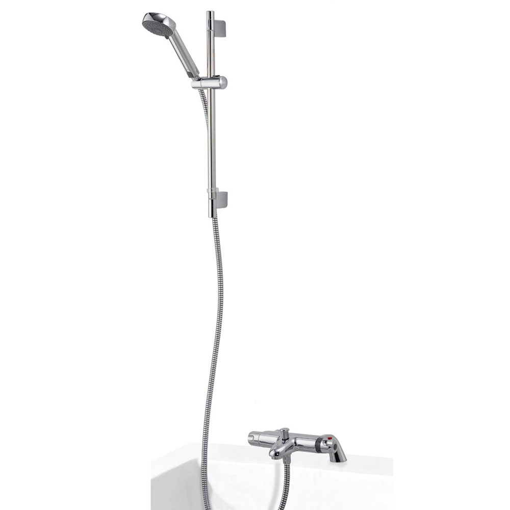Aqualisa - Midas 100 Thermostatic Bath Shower Mixer with Slide Rail Kit - MD100BSM Large Image