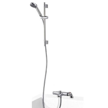Aqualisa - Midas 100 Thermostatic Bath Shower Mixer with Slide Rail Kit - MD100BSM