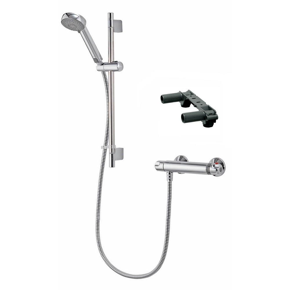 Aqualisa - Midas 100 Exposed Thermostatic Bar Valve with Slide Rail Kit & Easy Fit Bracket - MD100EBAR profile large image view 1