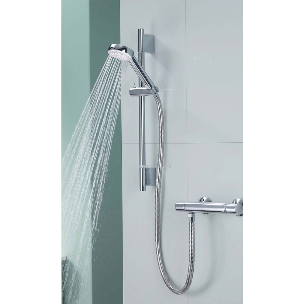 Aqualisa - Midas 200 Thermostatic Bar Valve with Slide Rail Kit profile large image view 4