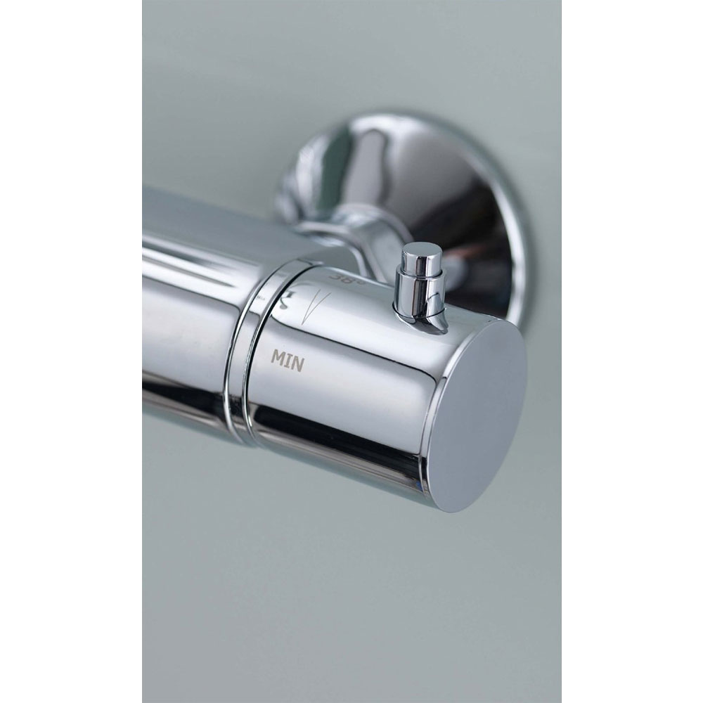 Aqualisa - Midas 200 Thermostatic Bar Valve with Slide Rail Kit profile large image view 6