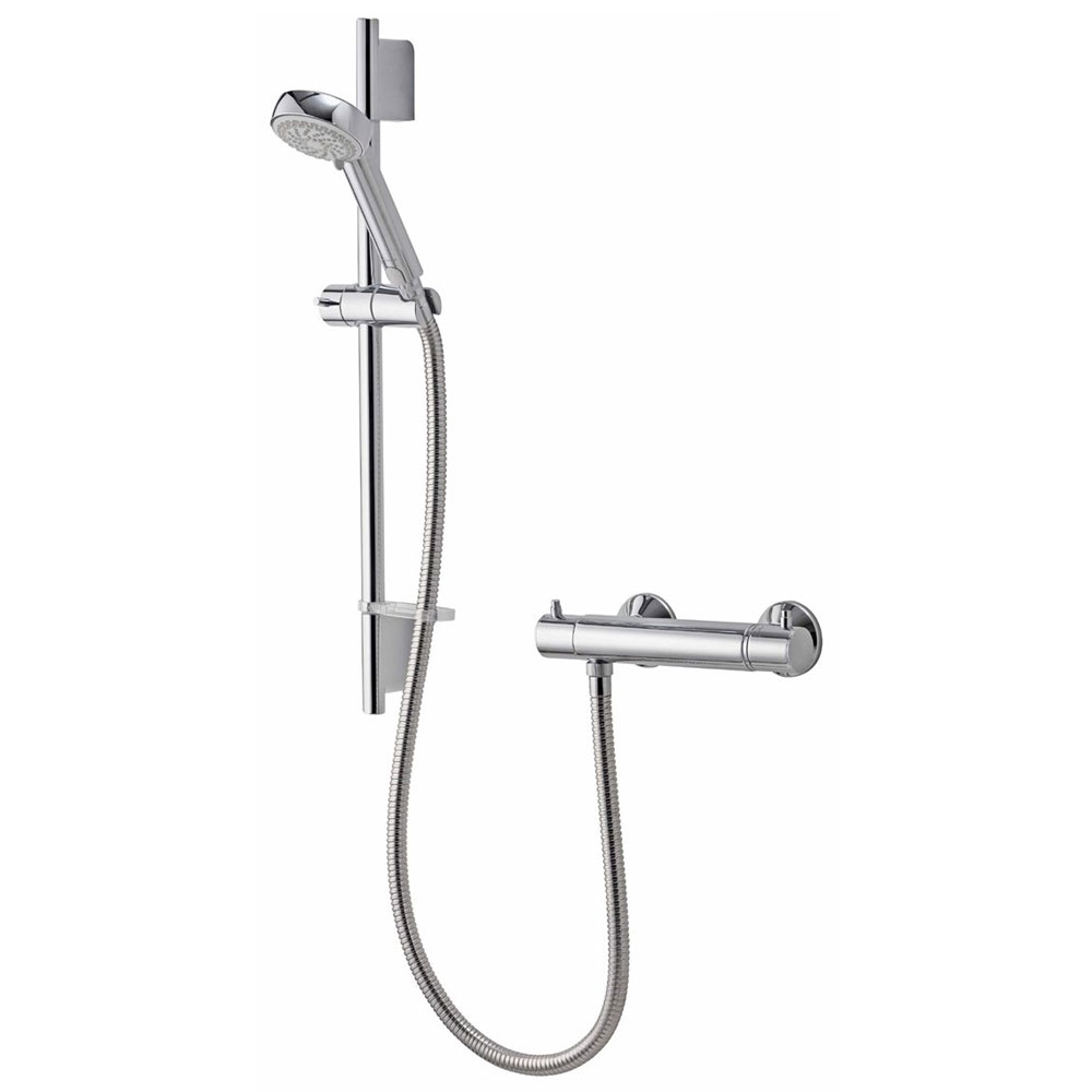 Aqualisa - Midas 200 Thermostatic Bar Valve with Slide Rail Kit Large Image