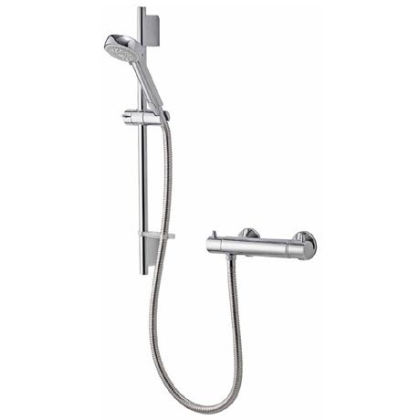 Aqualisa - Midas 200 Thermostatic Bar Valve with Slide Rail Kit