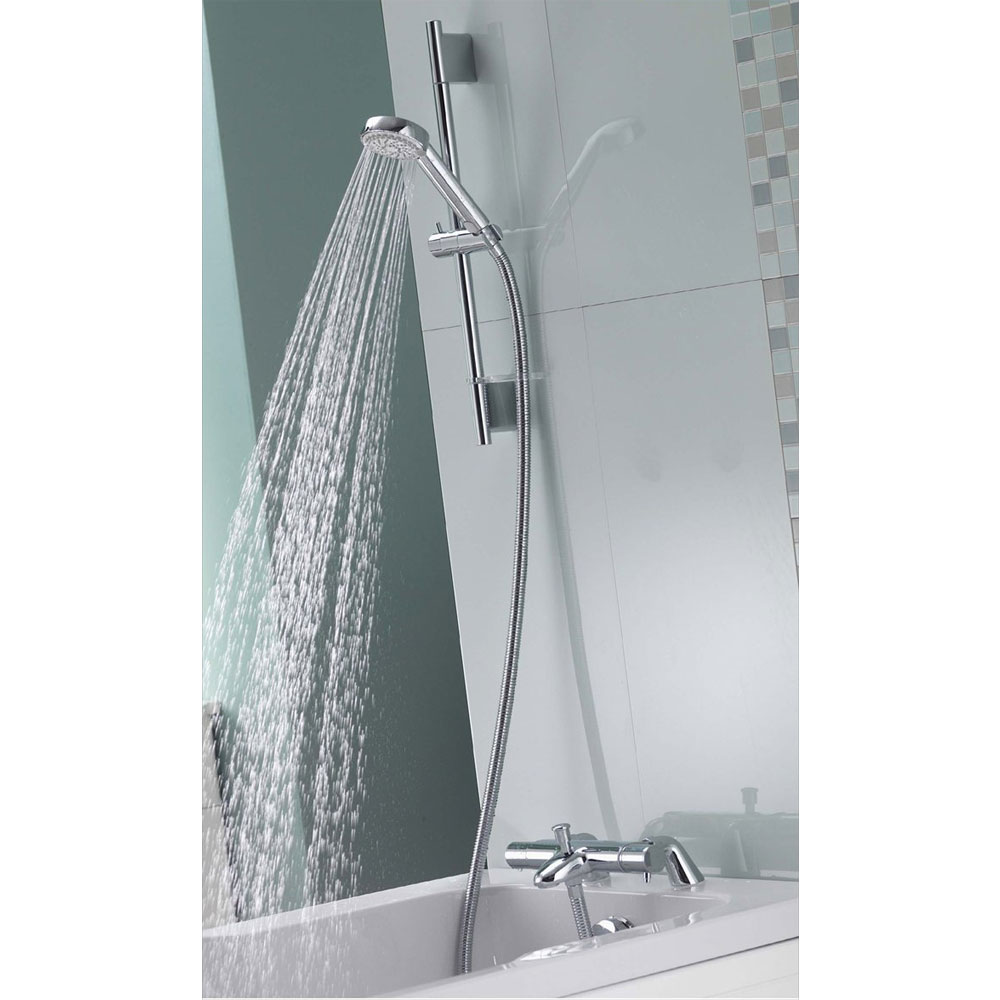 Aqualisa - Midas 200 Thermostatic Bath Shower Mixer with Slide Rail Kit - MD200BSM Feature Large Image