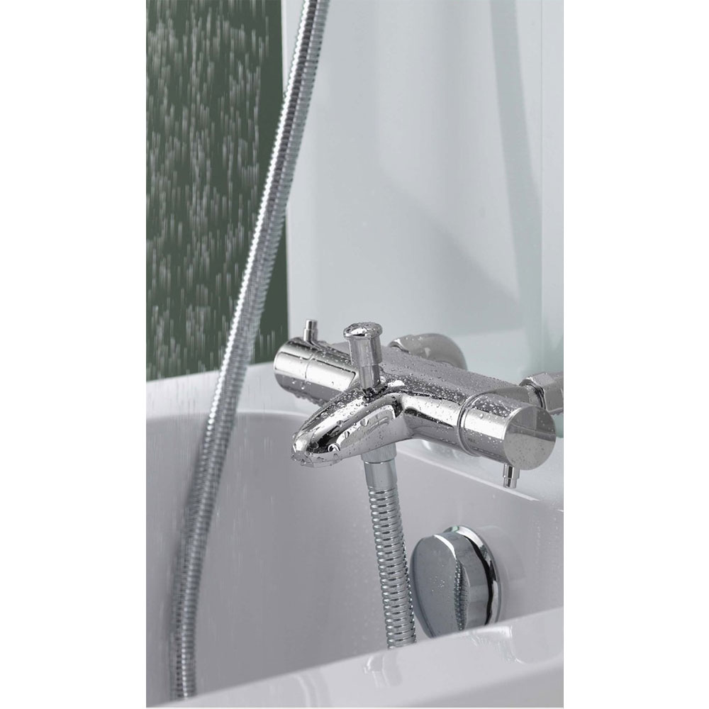 Aqualisa - Midas 200 Thermostatic Bath Shower Mixer with Slide Rail Kit - MD200BSM In Bathroom Large Image
