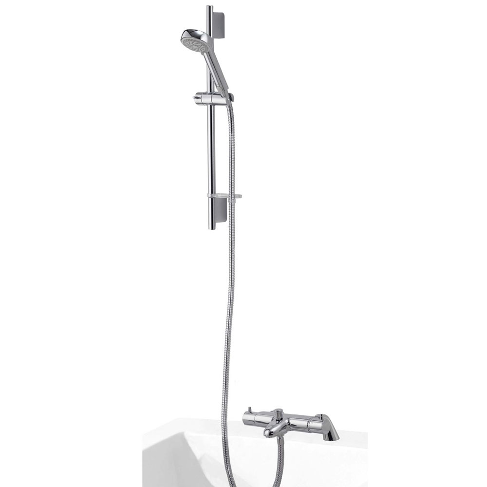 Aqualisa - Midas 200 Thermostatic Bath Shower Mixer with Slide Rail Kit - MD200BSM Large Image