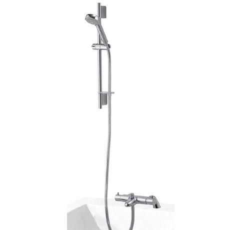 Aqualisa - Midas 200 Thermostatic Bath Shower Mixer with Slide Rail Kit - MD200BSM