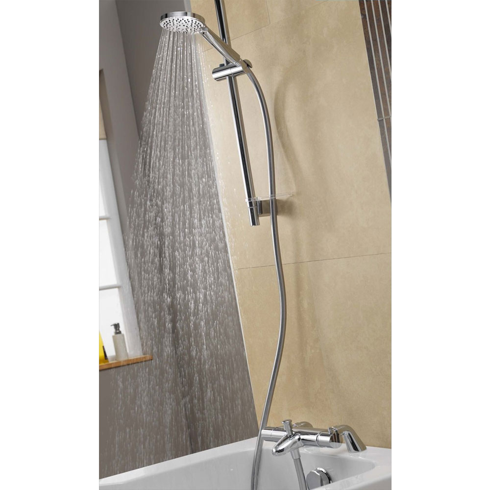 Aqualisa - Midas 300 Thermostatic Bath Shower Mixer with Slide Rail Kit - MD300BSM Feature Large Image