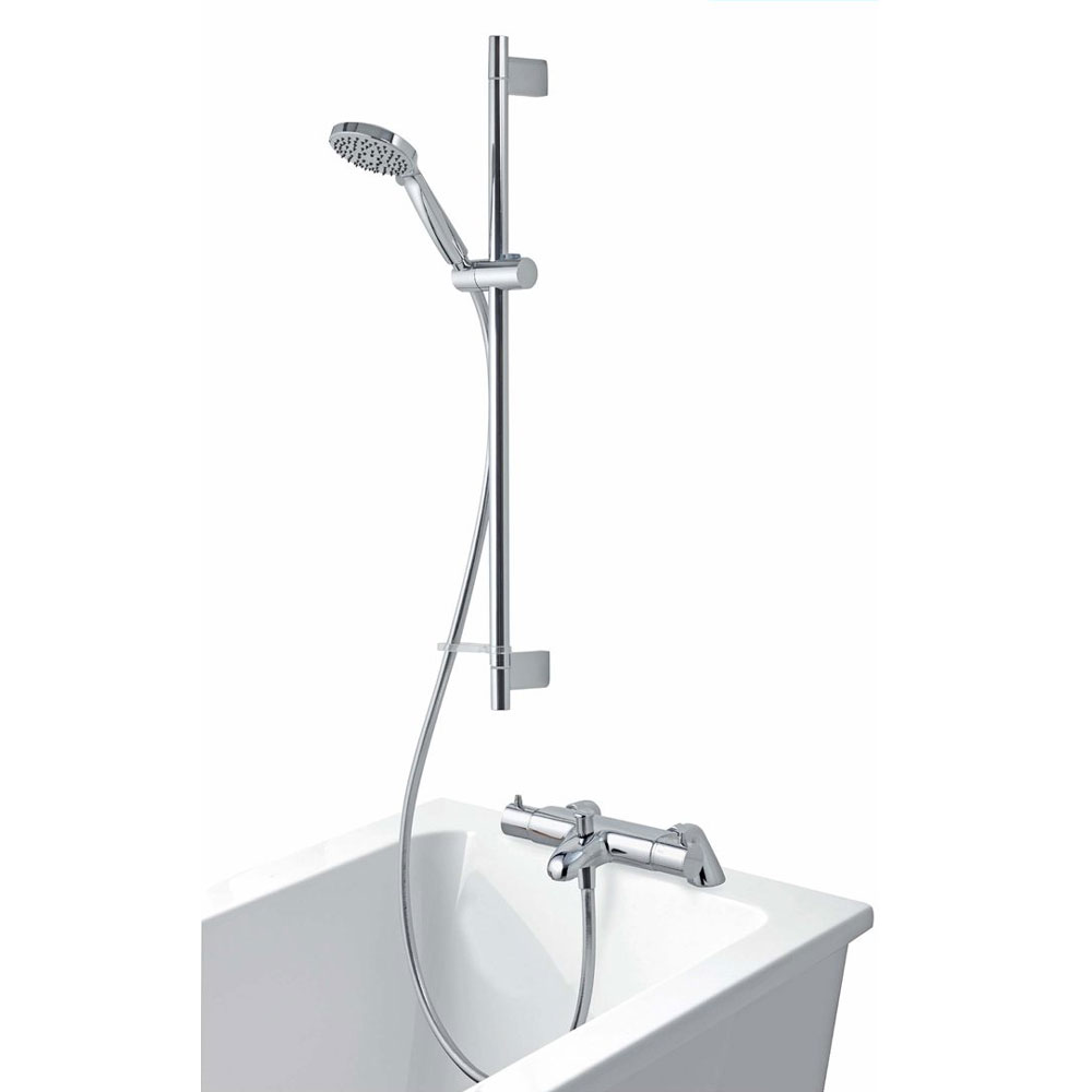 Aqualisa - Midas 300 Thermostatic Bath Shower Mixer with Slide Rail Kit - MD300BSM Large Image
