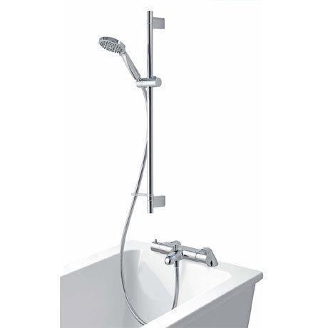 Aqualisa - Midas 300 Thermostatic Bath Shower Mixer with Slide Rail Kit - MD300BSM