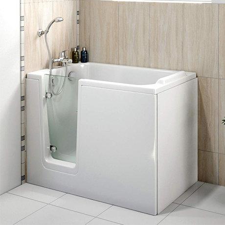 Milton Luxury Walk In 1210mm Easy Access Deep Soak Bath inc. Front + End Panels