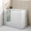 Milton Luxury Walk In 1210mm Easy Access Deep Soak Bath inc. Front + End Panels profile small image view 1