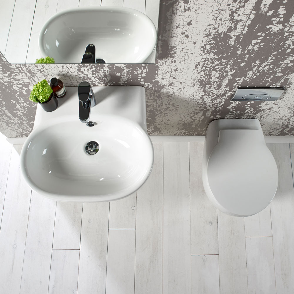 Roper Rhodes Memo 550mm Wall Mounted or Countertop Basin - ME55SB profile large image view 2