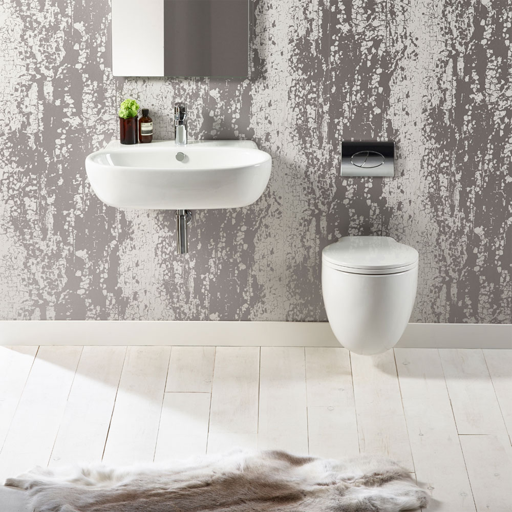 Roper Rhodes Memo 700mm Wall Mounted or Countertop Basin - ME70SB profile large image view 2