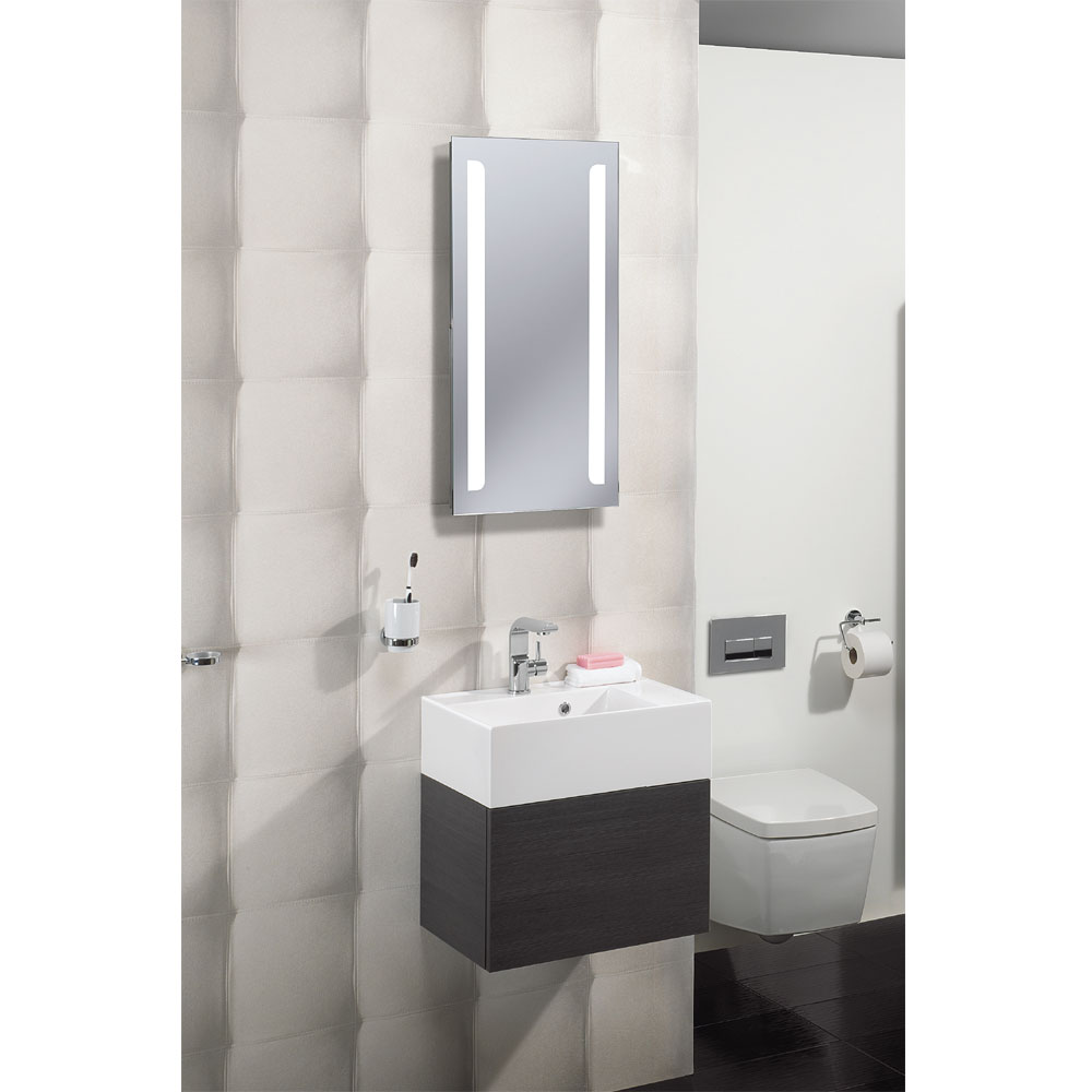 Bauhaus - Elite 50 LED Back Lit Mirror with Demister Pad - ME8050B profile large image view 3