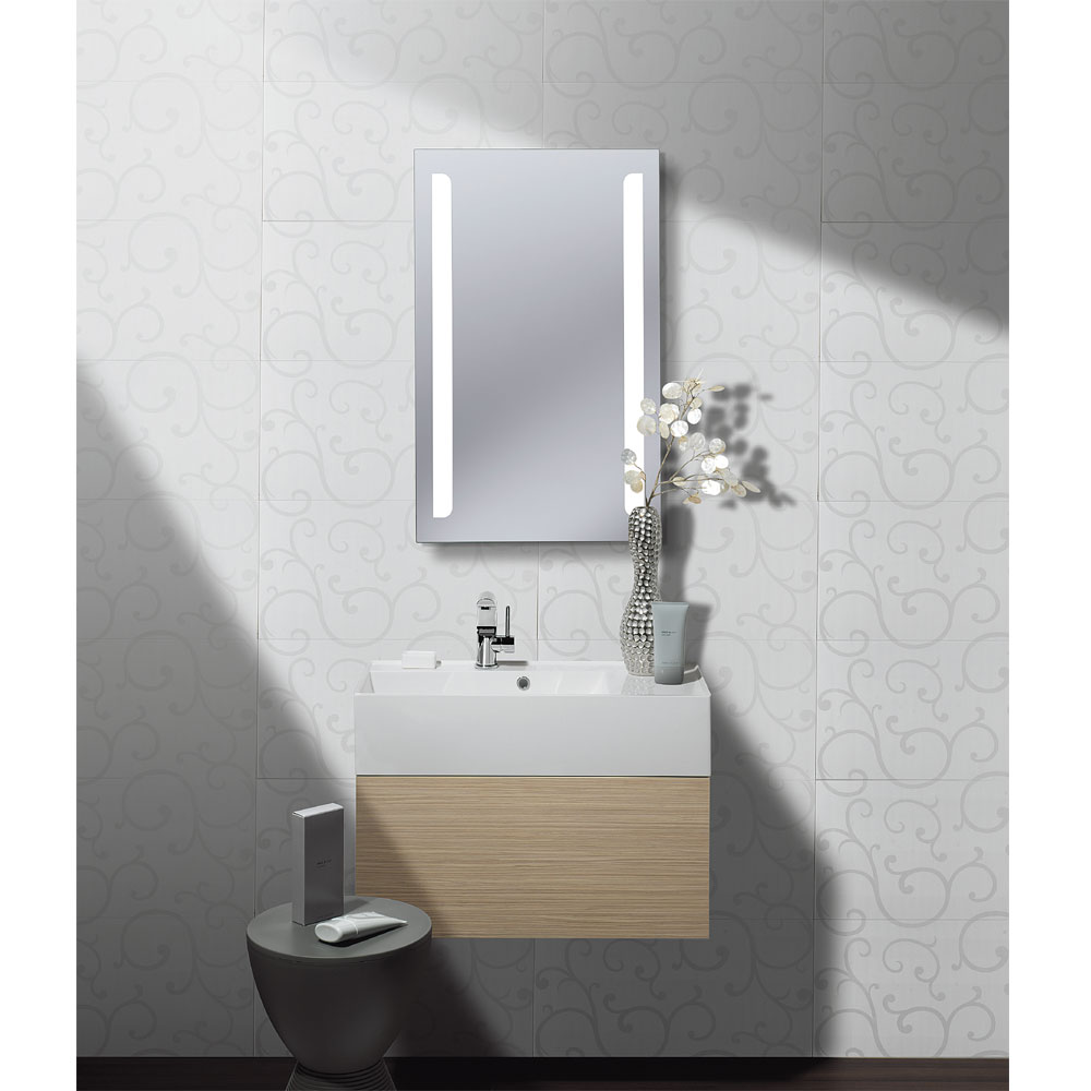 Bauhaus - Elite 50 LED Back Lit Mirror with Demister Pad - ME8050B profile large image view 2