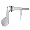 Milton Large Chrome Paddle Cistern Lever profile small image view 1