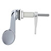 Large Chrome Paddle Cistern Lever - ME9115 profile small image view 1
